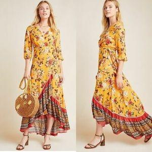 Farm Rio for Anthropologie Soigne Maxi Dress L